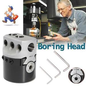 Boring Head 2 With R8 Shank And 3pcs Boring Bars 1 2 Shank For Bridgeport Mil