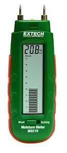 Extech Mo210 Pocket Size Moisture Meter With 2 in 1 Digital Lcd Readout Analog