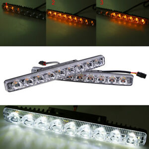 5630 Type Smd 18led Clear Lens Drl Daytime Running Light Universal For Benz Bmw