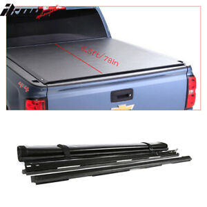 Fits 15 18 Ford F 150 6 5ft 78in Bed Black Vinyl Roll Up Tonneau Cover