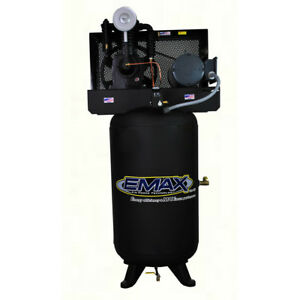 Emax 80 Gallon 5 Hp V4 2 stage 1 phase Vertical Air Compressor Ep05v080i1 New