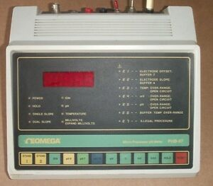 Omega Phb 67 Bench Top Digital Micro Processor Ph Meter
