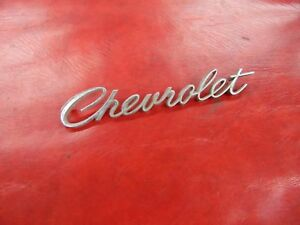 Chevrolet Trunk Lid Emblem Nameplate Badge 1960 s Chevy Oem Script Writing