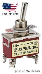 Heavy Duty Dpst on off Momentary Toggle Switch Screw Terminals 21bf