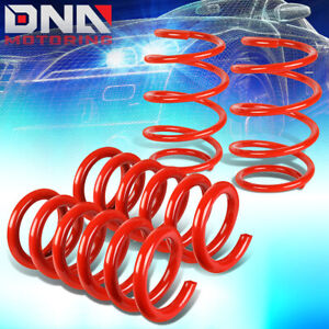 For 2015 2018 Ford Mustang 4pcs Red 1 Drop Front Rear Suspension Lowering Spring