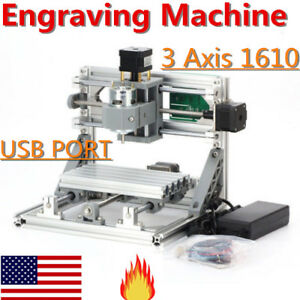 3 Axis Mini 1610 Cnc Router Kit Desktop Usb Laser Engraving Cutting Machine Top
