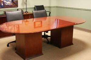 Conference Room Set Table Credenza Chairs And White Board Cabinet
