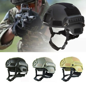 Military Tactical Protective Fast Helmet Airsoft Paintball Outdoor Mask Goggle