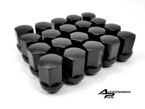 24 Pc 2017 2019 Chevy 1500 Black Oem Type Solid Wheel Lug Nuts 14x1 50 1709lbk