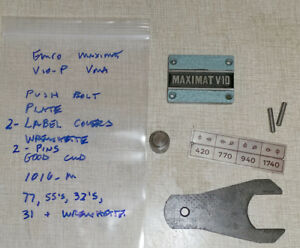 Miscellaneous Emco Maximat V10 p Lathe blue Vertical Milling Parts 1016_m