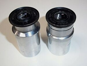 Qty 2 Eyepieces Leitz Wetzlar A10 31mm Microscope Eyepieces
