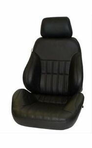 Scat procar Seat Rally 1000 Reclining Driver Side Vinyl Black Each 80 1000 51ls