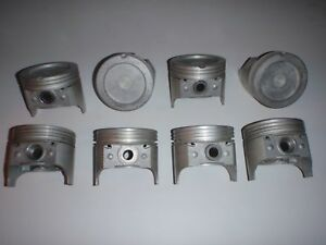 Made In Usa 8pc Set Pistons Pins 030 Size 1968 1980 Oldsmobile 350 V8 Olds
