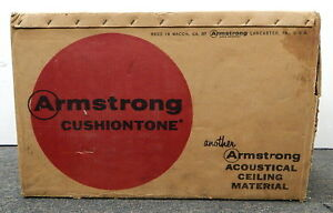 Vintage Armstrong Cushiontone Acoustical Absorbtion Ceiling Panel Tiles New 60sf