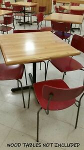 50 Stack Chairs Wood Cafeteria Seating Dining Commercial Church Youth Camp Red