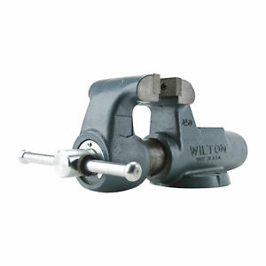 Wilton Serrated Machinist Bench Vise 5in Jaw Width Stationary Base 500n