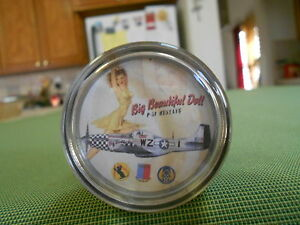 P 51 Mustang Pinup Steering Wheel Spinner Military Pinup Suicide Knob Bomber