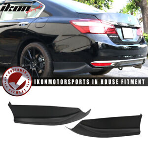 Fits 16 17 Accord Sedan 4dr Hfp Style 2 Piece Rear Lip Underbody Spoilers Pp