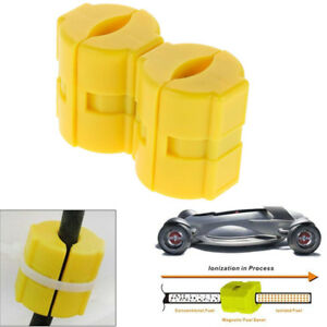 2 Pcs Car Truck Fuel Saver Gas Savings Magnetic Technology Line Conditioner