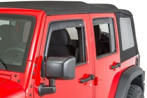 Avs 194811 In channel Window Ventvisor 4 piece 2018 2020 Jeep Wrangler Unlimited