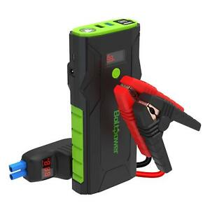 Bolt Power Portable Jump Starter Power Bank Set With Smart Jumper Cable Clamps