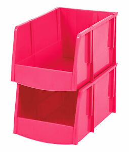 Iris Usa Inc Storage Bin Pink Set Of 6