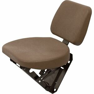 K M Buddy Seat For John Deere 6000 And 7000 Series Tractors Brown