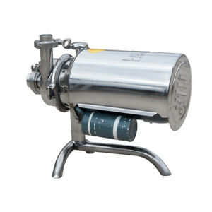 0 75kw Food Grade Centrifugal Pump Stainless 304 Sanitary Beverage 3t h 110v