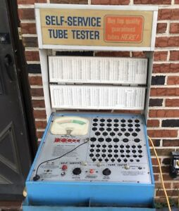 Mercury 204 Self Service Drug Store Tube Tester W Lighted Sign