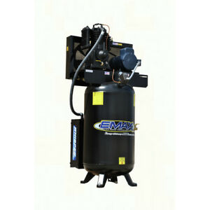 Emax Es05v080i1 5 Hp 80 Gal Vertical Stationary Electric Air Compressor New