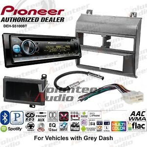 Pioneer Deh S5100bt Single Din Car Cd Stereo Radio Install Kit Bluetooth