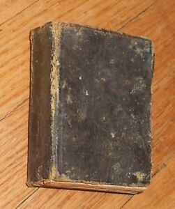 1865 Antique Miniature Book A Vest Pocket Medical Lexicon 1st Ed 3 X 2