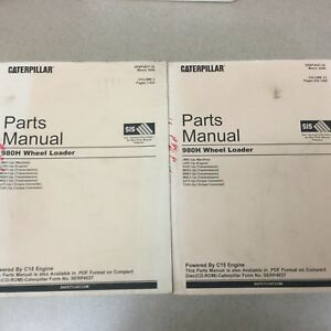 Cat Caterpillar 980h Parts Manual Book Catalog Wheel Loader List Guide Sn Jms