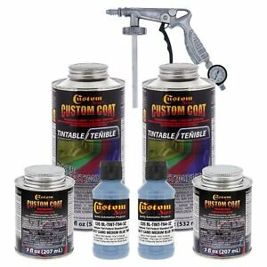 Bed Liner Custom Coat Camo Medium Blue 2l Urethane Spray On Kit