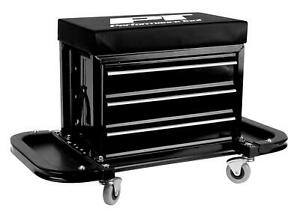 Performance Tool Creeper Seat Tool Box W85025