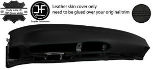 Black Stitch Oval Dashboard Leather Cover For Porsche 944 968 86 95 Style 2