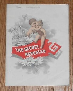 C1895 Antique Medical Advertising Book Dana S Sarsaparilla The Secret Revealed
