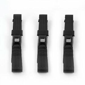 Chevy Bel Air 1955 1957 Standard 2pt Black Lap Bench Seatbelt Kit 3 Belts
