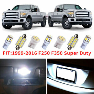 14x White Led Light Interior Package Kit For 1999 2016 Ford F250 F350 Super Duty