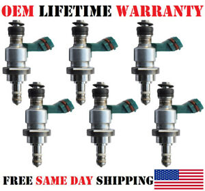 Genuine X6 Oem Denso Fuel Injectors For 2006 13 Lexus Is250 gs300 2 5 3 0l V6