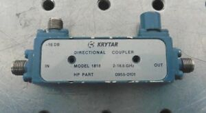 C155172 Krytar 1818 Directional Coupler 2 18ghz 16db Hp 0955 0101 Sma Connector