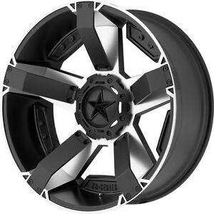 20 Inch Black Silver Wheels Rim Lifted Chevy Gmc Truck 2500 3500 8 Lug Xd Series