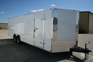 New 8 5 X 24 8 5x24 Enclosed Carhauler Trailer W V nose Must See