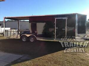 New 2019 8 5x24 8 5 X 24 V Nose Enclosed Cargo Utility Hybrid Porch Trailer