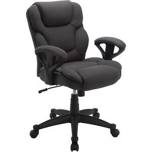 Serta Gray Mesh Fabric Big Tall Manager Chair Office Desk Adjustable Heavy Duty