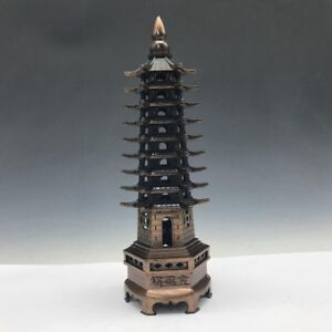 Chinese Antique Bronze Statue Of Wenchang Tower B740