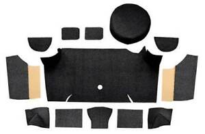 1967 68 Mustang Fastback Loop Trunk Carpet Set W Boards Black