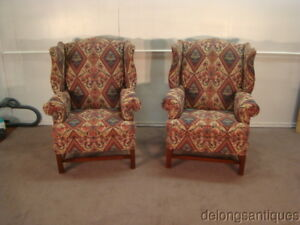 50341 Harden Pair Of Wing Back Chairs