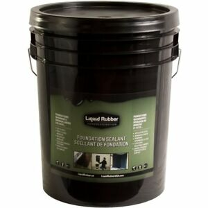 Liquid Rubber Foundation Sealantbasement Coating 5 Gallon Black