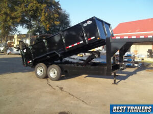 2019 Dump Trailer 7x16 15000 Gvwr Equipment Dumping 3 Ft High New Goosneck